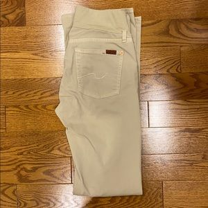 Maternity Beige Jeans 7 for all Mankind
